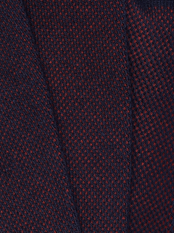 Chaussettes en caviar faux uni rouge et marine