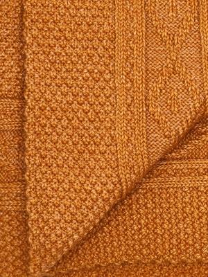 Chaussettes ocre en tricot irlandais