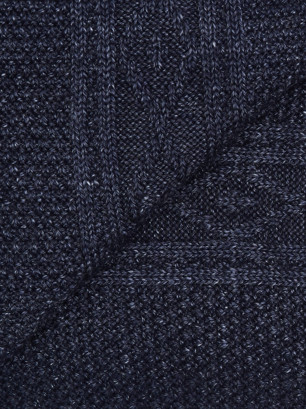 Chaussettes marine en tricot irlandais