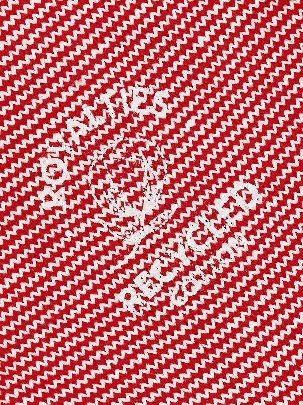 Chaussettes milleraies en coton recyclé rouge et ivoire