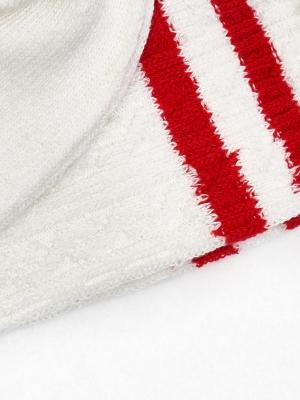 Chaussettes à torsades en coton recyclé blanches