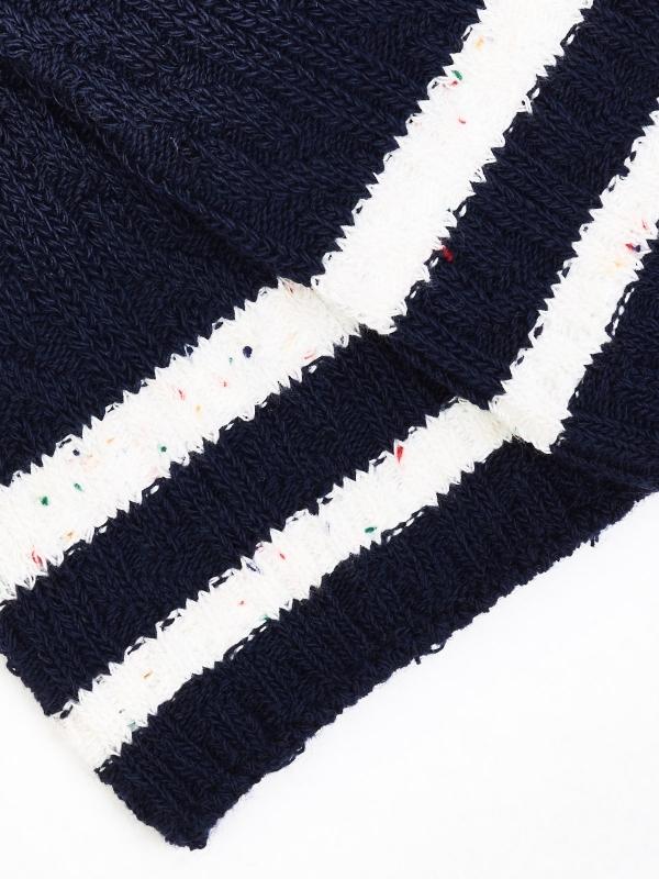 Chaussettes à torsades en coton recyclé marine