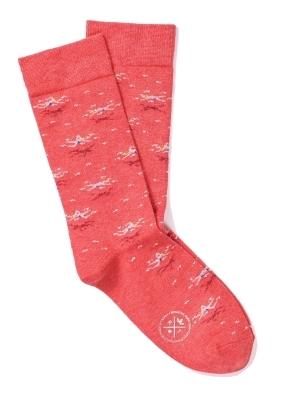 Chaussettes rouges à motifs de nageur