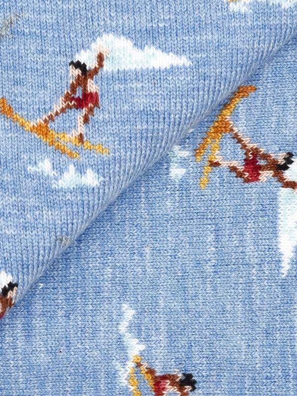 Chaussettes bleu ciel à motifs de jeux nautiques