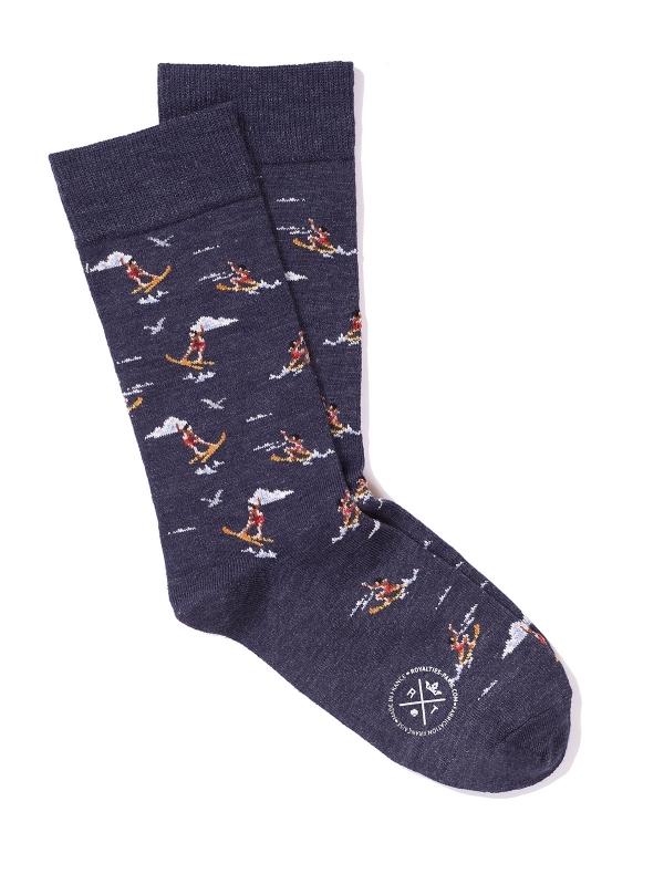 Chaussettes marine à motifs de jeux nautiques