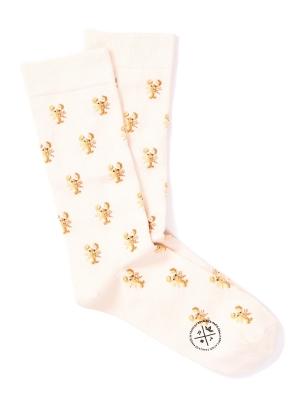 Chaussettes ivoire à motifs de homard