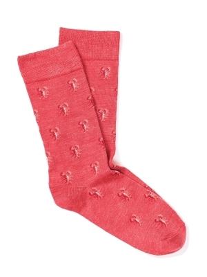 Chaussettes rouges à motifs de homard