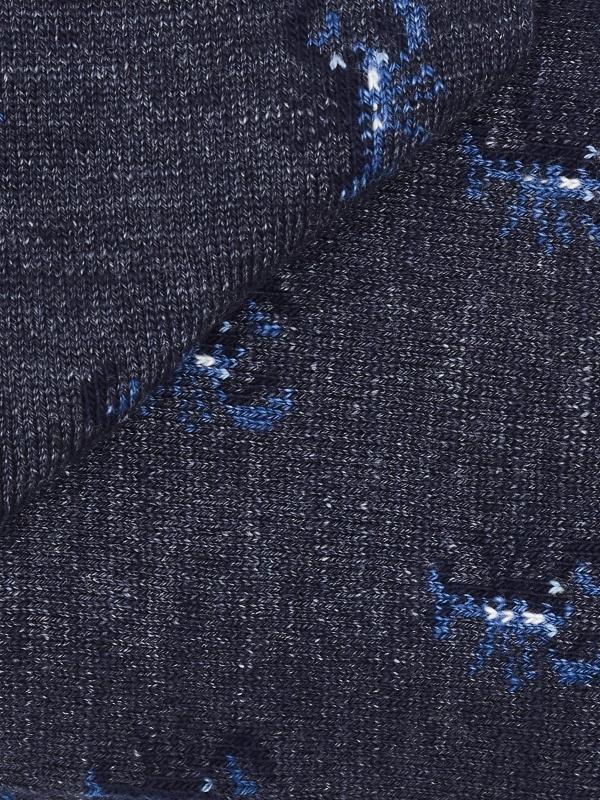Chaussettes marine à motifs de homard