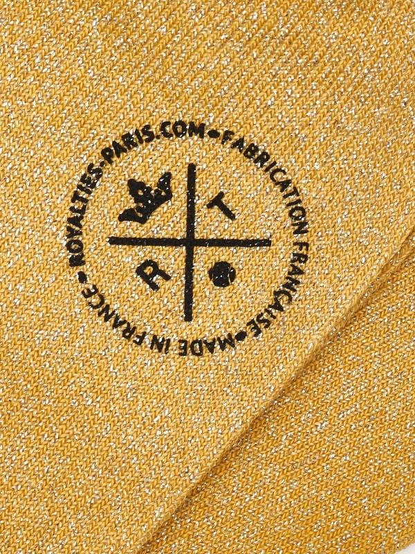 Chaussettes ocre unies et brillantes