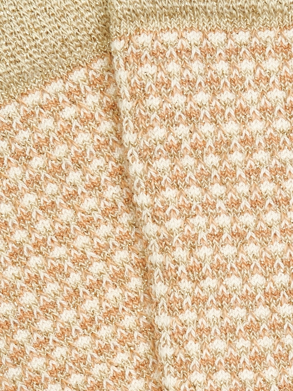 Chaussettes brillantes or en nid d'abeille