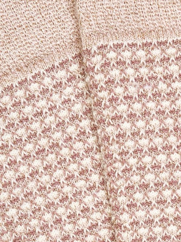 Chaussettes brillantes roses en nid d'abeille