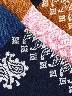 Chaussettes extrafines en bandana marine