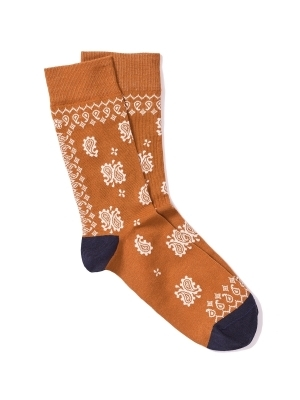 Chaussettes extrafines en bandana ocre