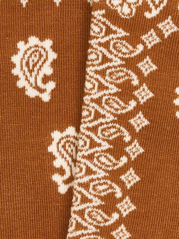 Chaussettes extrafines en bandana ocre