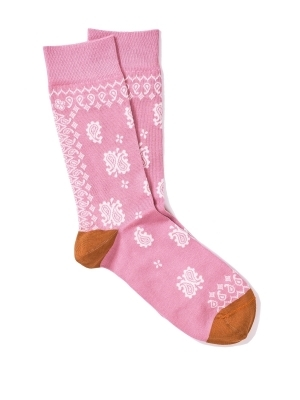 Chaussettes extrafines en bandana rose