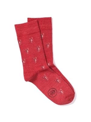 Chaussettes rouges à motifs de homards brillants