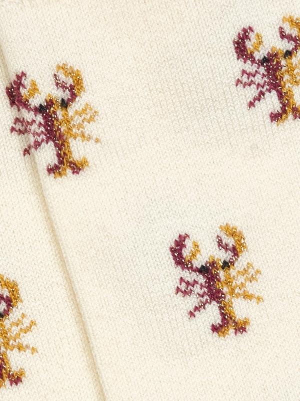 Chaussettes ivoire à motifs de homards brillants