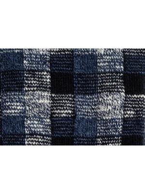 Chaussettes en vichy tricolore marine et bleu