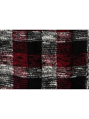 Chaussettes en vichy tricolore noir et bordeaux