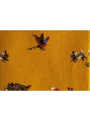 Chaussettes à motifs d'animaux de la forêt sur fond ocre