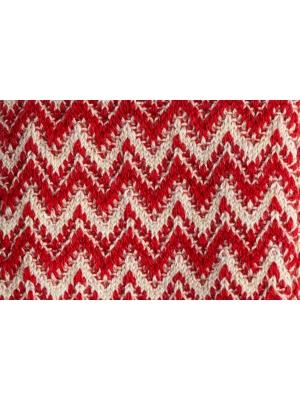 Chaussettes rouges et ivoire à chevrons