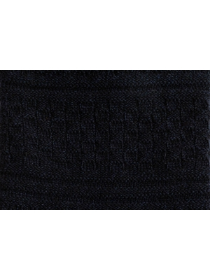 Chaussettes 3 fils marine en point de Guernesey avec talon et pointe contrastés