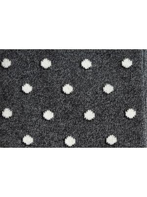 Chaussettes grises à pois bicolores