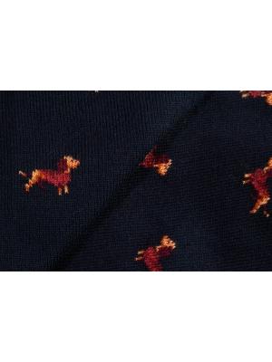 Chaussettes marine à motifs de teckel