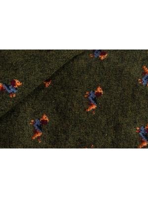 Chaussettes kaki à motifs de teckel