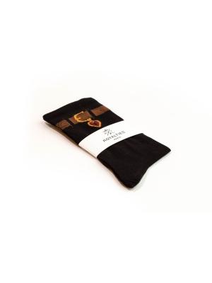 Chaussettes fines noires au trompe l'œil ceinture