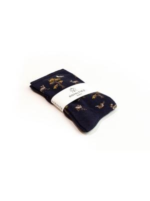 Chaussettes marine à motifs de faons