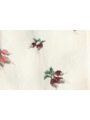 Chaussettes écrues à motifs de radis
