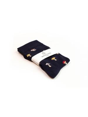 Chaussettes marine à motifs de champignons