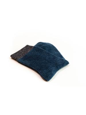 Chaussettes bleu pétrole en coton velours ultra doux et bord côte brillant
