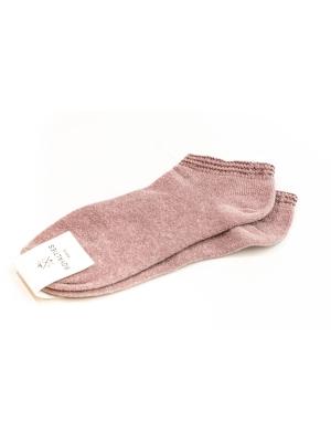 Socquettes roses en coton velours ultra doux et bord côte brillant