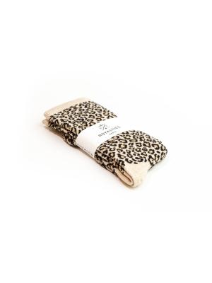 Chaussettes or brillantes et douces à motif léopard
