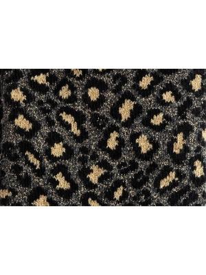 Chaussettes bronze brillantes et douces à motif léopard