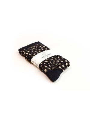 Chaussettes marine brillantes et douces à motif léopard