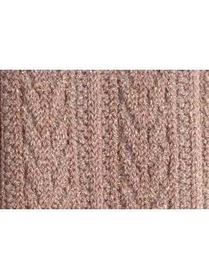 Chaussettes roses brillantes à tricotage épi de blé