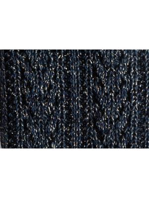 Chaussettes bleu marine brillantes à tricotage épi de blé