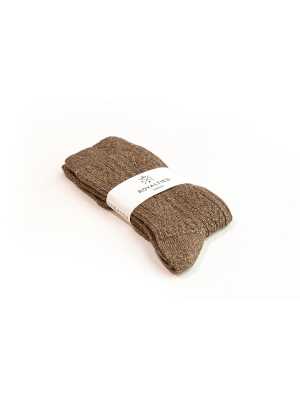 Chaussettes bronze brillantes à tricotage épi de blé