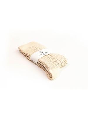 Chaussettes ivoire en tricot irlandais
