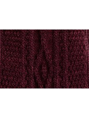 Chaussettes bordeaux en tricot irlandais
