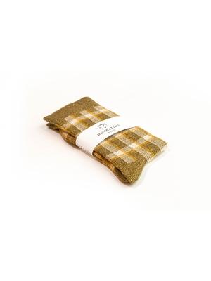 Chaussettes bronze brillantes à carreaux