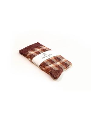 Chaussettes bordeaux brillantes à carreaux