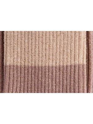 Chaussettes roses à paillettes et fines côtes en color block