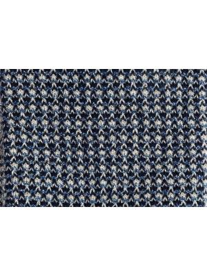 Chaussettes brillantes en nid d'abeille bleu