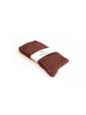Chaussettes bordeaux unies à paillettes