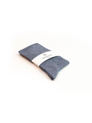 Chaussettes bleues unies à paillettes