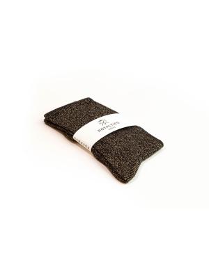 Chaussettes noires unies à paillettes